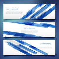 abstracte blauwe banners en headers sjabloon