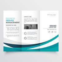 creatieve zakelijke driebladige brochure ontwerpsjabloon