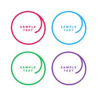 colorful circle banners set with text space