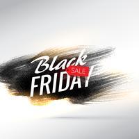fundo preto venda de sexta-feira com pincelada suja