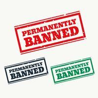 permanent förbjudna tecken i tre färger