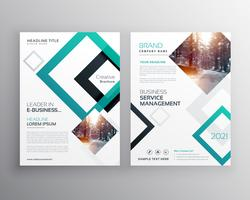 modern business flyer brochure design concept template