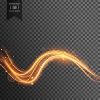 wellenförmige transparente Lichteffekt Vektor Hintergrund