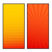 conception de bannière de style deux pages verticales de bandes dessinées