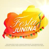 festa Junina-vieringsachtergrond voor het festival van de Junipartij