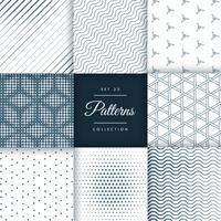collection of abstract line pattern background design