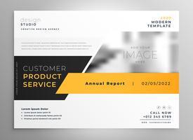 elegant yellow black business presentation brochure design tempa