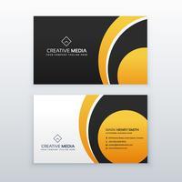 modelo de design de cartão profissional amarelo e preto