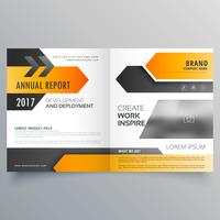 annual report booklet brochure template design with geometric sh