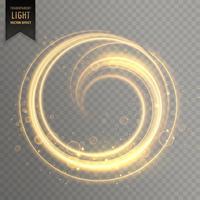 kreisförmiger Lichtstreifen in Goldfarbe