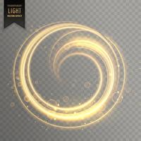 circular light streak in gold color