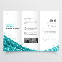 blue trifold brochure flyer template for your business
