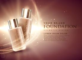 geweldige cosmetische foundation product advertenties 3d illustratie concept