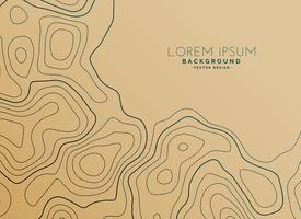 brun bakgrund med topografisk karta
