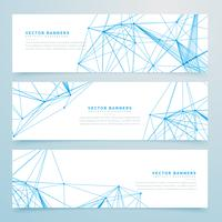 abstract digital wire mesh headers set of three banners