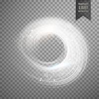 circular transparent white light effect background