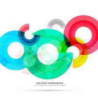 Fondo abstracto brillante colorido círculos