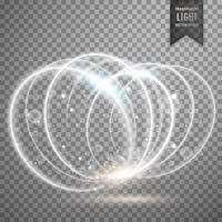 Fondo de anillos de efecto de luz blanca