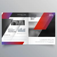 ontwerp van een professioneel zakenmagazine of tweevoudige brochure templat