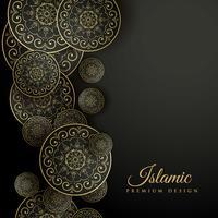 Hermoso fondo islámico con decoración mandala.