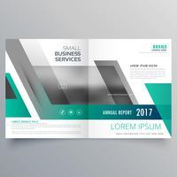 elegante design de página de capa de revista com formas abstratas
