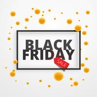 Cartel de oferta de descuento de venta de viernes negro con puntos amarillos