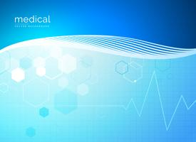 diseño de fondo médico de moléculas abstractas