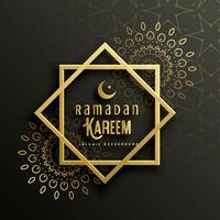 belle conception de carte de voeux de ramadan kareem avec l'art de mandala
