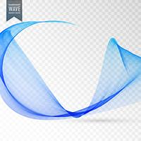 transparent wave effect in blue color