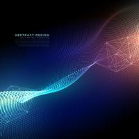 Fondo de tecnología abstracta con efecto de luz