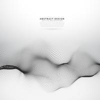 3D-deeltjes wireframe mesh vector achtergrond