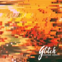 gecodeerde glitch effect vector achtergrond
