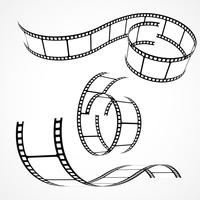 conjunto de tiras de filme 3d