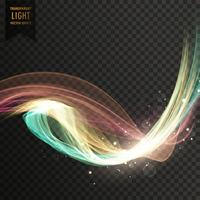 färgglad tranparent ljus effekt vektor bakgrund