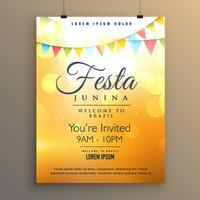projeto do cartaz do fundo do festival do junina da festa latino-americano