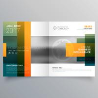 abstract creative bi fold brochure template or magazine cover pa