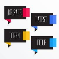 mörka moderna chatt bubbla stil banderoller med text utrymme