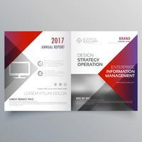 saubere minimale Bifold-Broschüren-Designvorlage mit geometrischem Sha