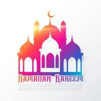 colorful mosque shapes for ramadan festival background