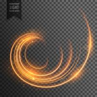 effet de lumière tourbillonnante transparente avec fond d'étincelles
