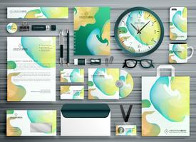 abstract business stationery template design for your brand iden