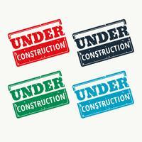 em vetor de sinal de construção em quatro cores