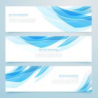 abstract lichtblauw banners vastgesteld ontwerp