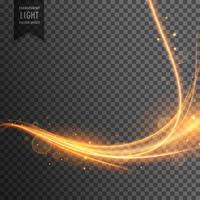 traînée d'effet de lumière transparente avec des étincelles