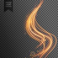 Fondo de efecto de luz transparente de onda dorada