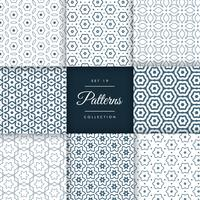 elegant set of line pattern collection design