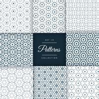 elegante conjunto de design de coleção de padrão de linha