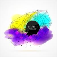 kleurrijke aquarel vlek achtergrond met netwerk gaas desi