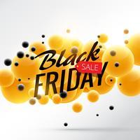 Impresionante cartel de venta de viernes negro brillante con bu amarillo y negro