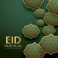 lindos padrões islâmicos projeto eid mubrak festival saudação